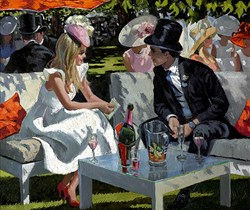 Ascot Glamour by Sherree Valentine Daines - Hand Finished Limited Edition on Canvas sized 26x22 inches. Available from Whitewall Galleries